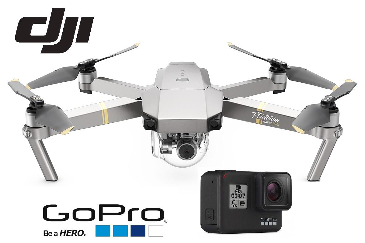 Kamery, drony