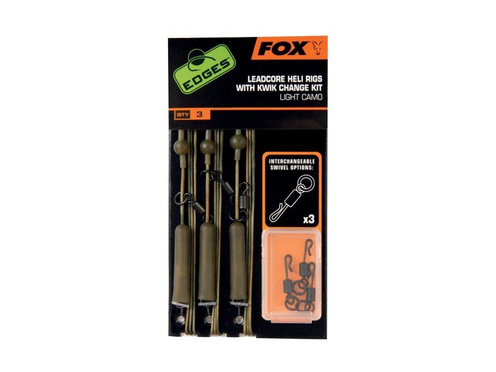 FOX LEADCORE HELI RIGS INC. KWIK CHANGE KIT LIGHT CAMO