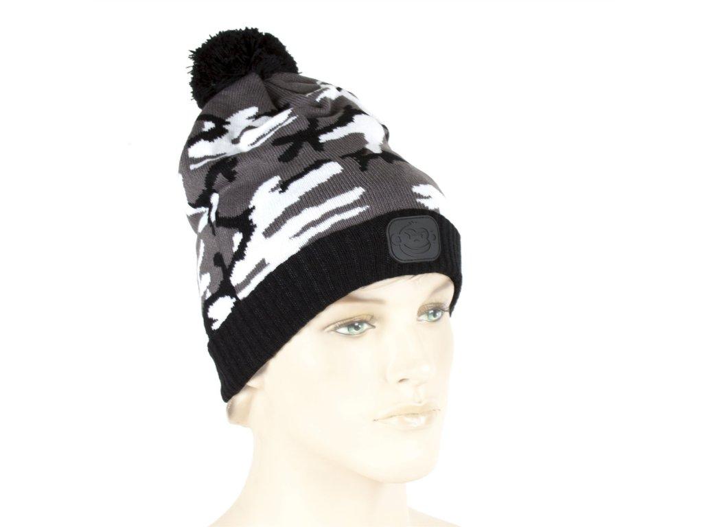 Ridgemonkey Bobble Hat | Čepice | Camou style Black