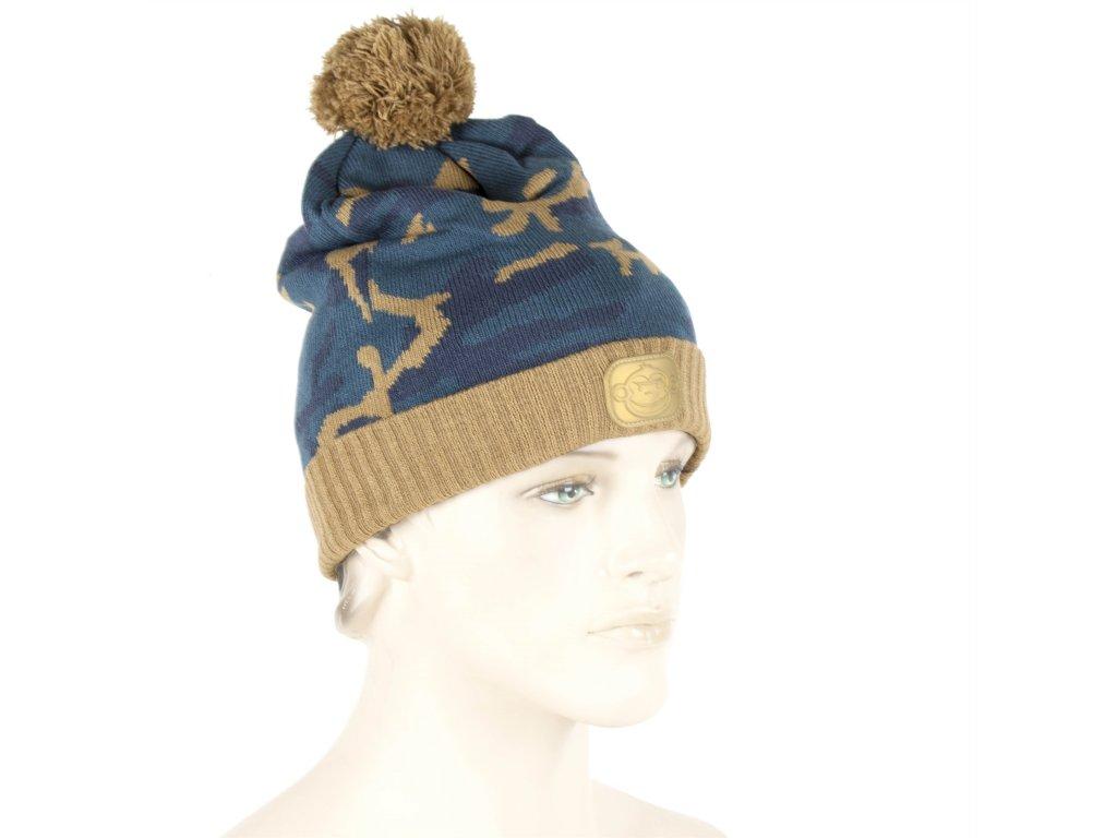 Ridgemonkey Bobble Hat | Čepice | Camou style Brown