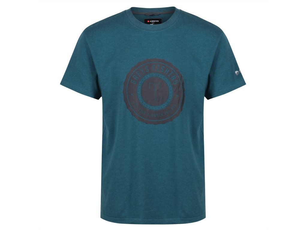 Greys Heritage T Shirt Tričko Petrol Velikost M