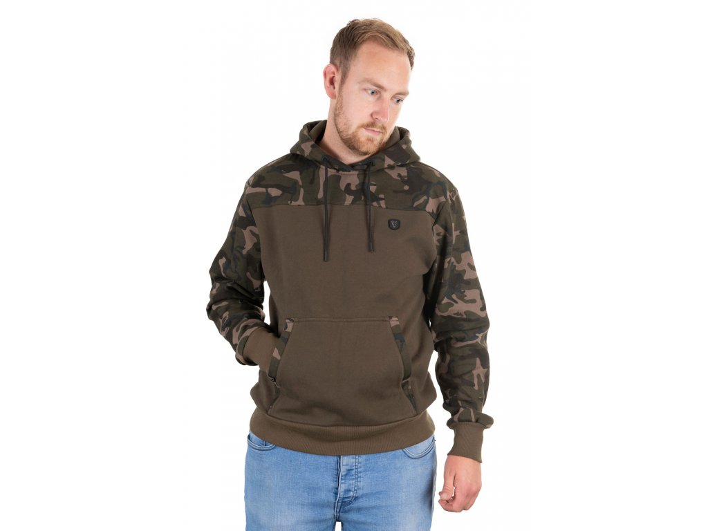 khaki camo hoodie front
