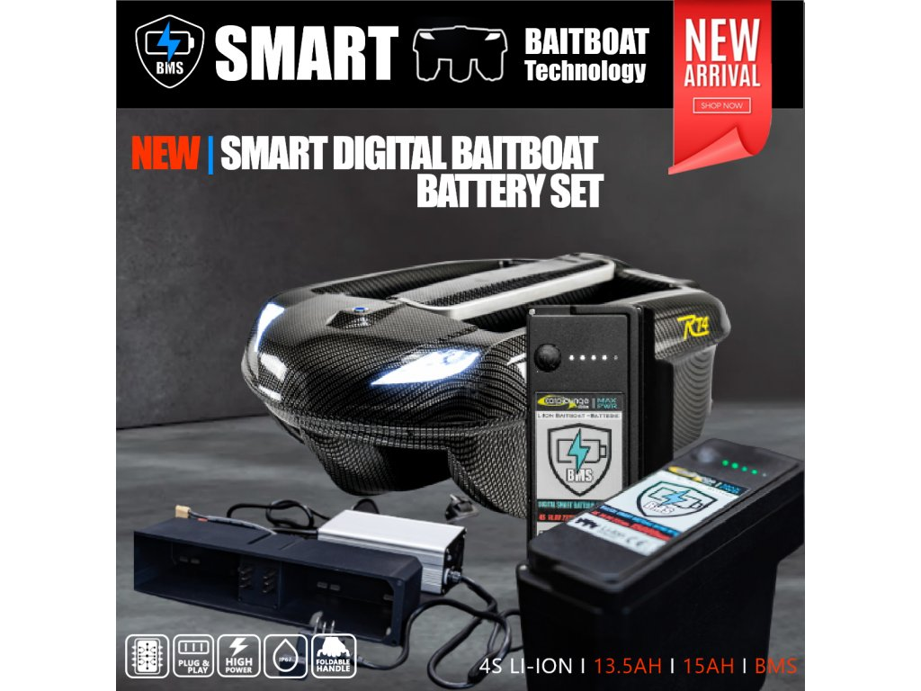 0004189 smart digital baitboat battery upgrade set