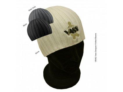 vb462 vass designer knitted winter beanie stone. grey or black