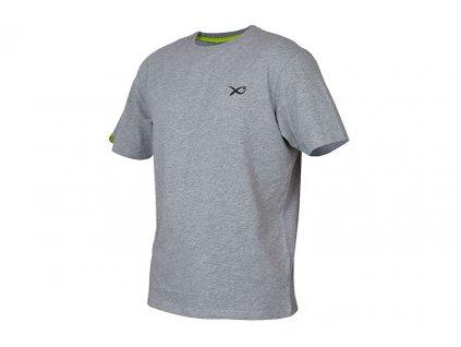matrix minimal t shirt light grey marl angled