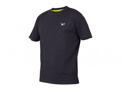 matrix minimal t shirt black marl angled