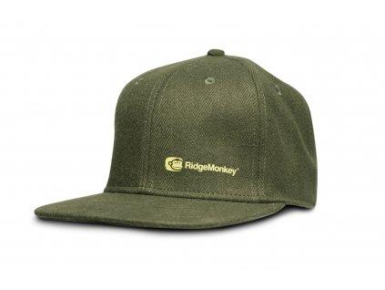 RIDGEMONKEY kšiltovka s rovným kšiltem APEarel Dropback Snapback - zelená