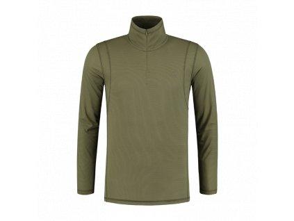 KCL358 Kool Quick Dry Long Sleeve Zip Neck Front