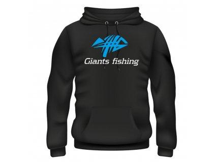 GIANTS FISHING Mikina s kapucí černá Giants Fishing
