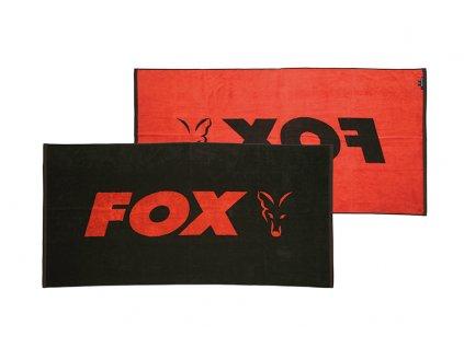 cll176 fox beach towel black orange main