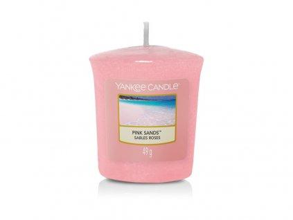 Vonná svíčka Yankee Candle votivní svíčka PINK SANDS 49 g