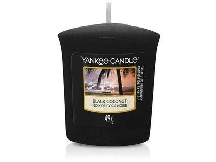Vonná svíčka Yankee Candle votivní svíčka BLACK COCONUT  49 g