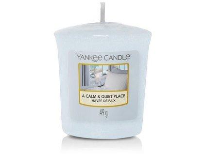 Vonná svíčka Yankee Candle votivní svíčka A CALM QUIET PLACE 49 g