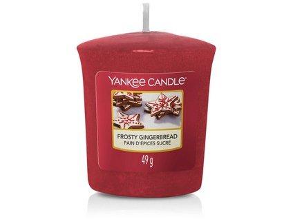 Vonná svíčka Yankee Candle votivní svíčka FROSTY GINGERBREAD  49 g