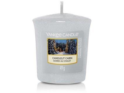 Vonná svíčka Yankee Candle votivní svíčka CANDLELIT CABIN  49 g