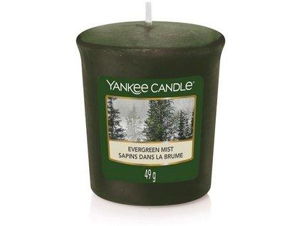 Vonná svíčka Yankee Candle votivní svíčka  EVERGREEN MIST  49 g