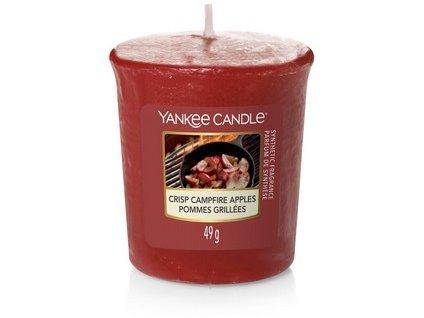 Vonná svíčka Yankee Candle votivní svíčka  Crisp Campfire Apples 49g