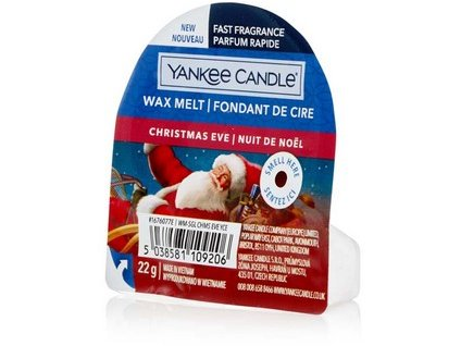 Yankee Candle vonný vosk do aromalampy nový CHRISTMAS EVE 22g