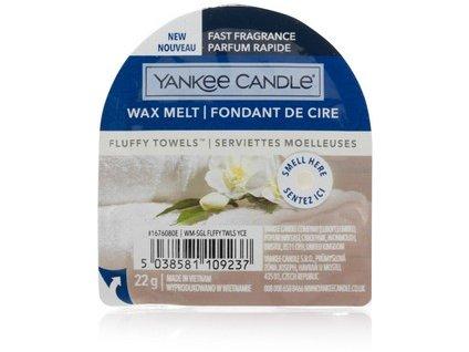 Yankee Candle vonný vosk do aromalampy nový FLUFFY TOWELS  22g