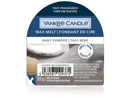 Yakee Candle vonný vosk do aromalampy nový BABY POWDER  22g