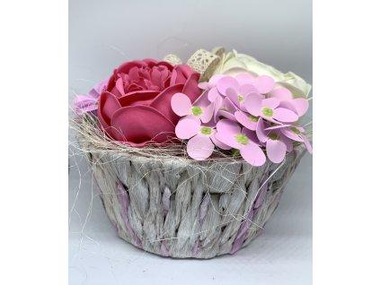 Mýdlová kytice luxusní červená 1ks