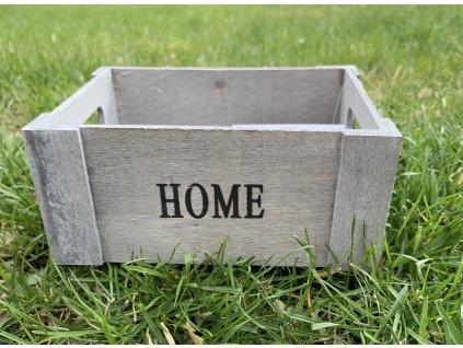Dřevěná dekorační krabička 1ks
