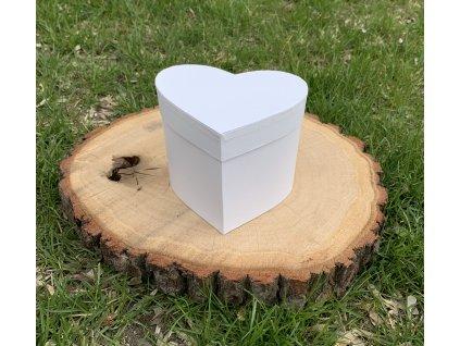 Dárková krabička srdce bílá 1 ks