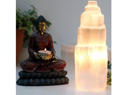Přírodní selenitová lampa 25 cm