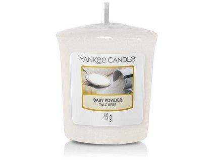 VONNÁ SVÍČKA Yankee Candle votivní svíčka  Baby Powder 49g