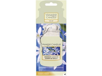 Yankee Candle Midnight jasmine papírová visačka do auta 1 ks