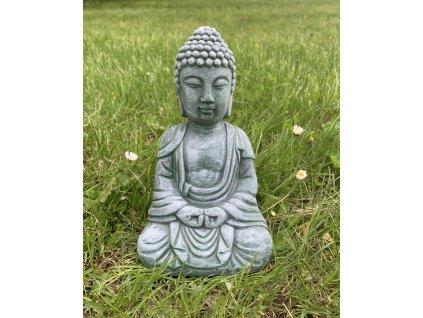 Socha Buddha zelená 1 ks