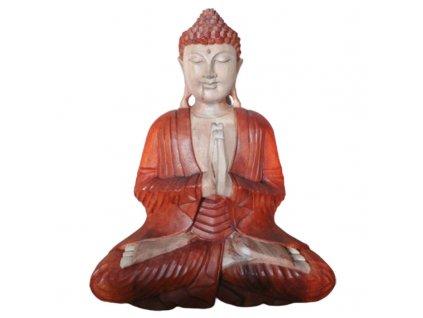Ručně Vyřezávaná Socha Buddhy - Vítejte - 40cm