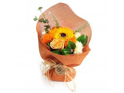 Mýdlová kytice oranžová