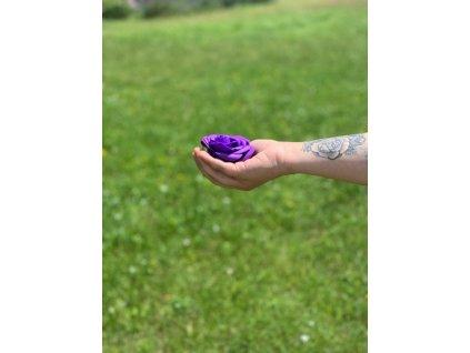 Mýdlové květy-Velké růže - Fialová 1 ks