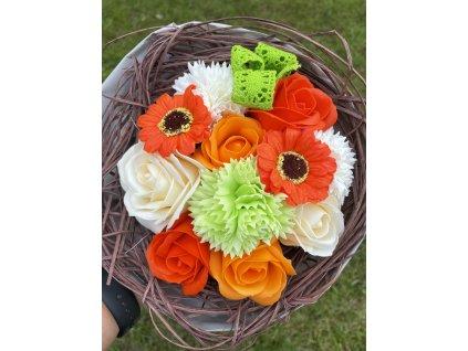 Mýdlová kytice mix květů  1ks