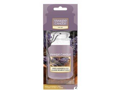 Yankee Candle Dried lavender Oak papírová visačka do auta 1 ks