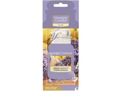 Yankee Candle Lemon lavender papírová visačka do auta 1 ks