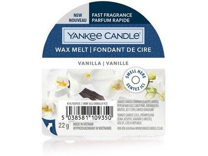 Yakee Candle vonný vosk do aromalampy nový VANILLA  22g