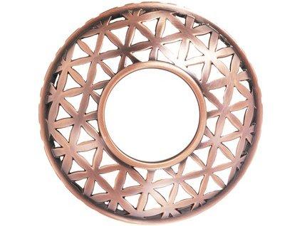 Ozdobný prstenec na svíčku Belmont satin copper metal 1ks