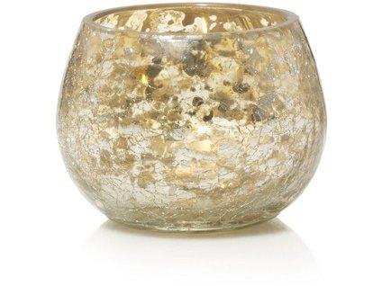 Yankee candle  svícen na votivní svíčku crackle glass  1ks