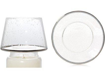 Yankee Candle Sada stínítka a talíře velká metalic glass 1 ks
