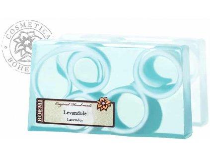 Mýdlo křišťálové spirálové LEVANDULE 140g