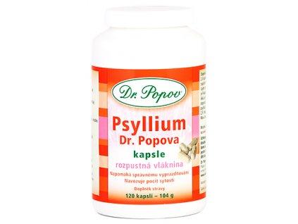 PSYLLIUM Dr. Popova – kapsle, 120 ks – 104 g