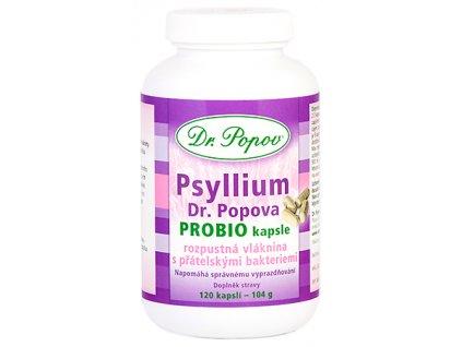 Psyllium Dr. Popova PROBIO kapsle, 120 ks