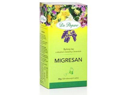 Bylinný čaj MIGRESAN s třezalkou a meduňkou - 30g (20 sáčků)
