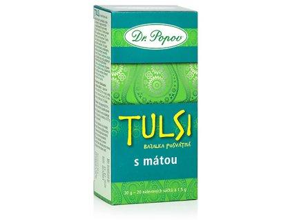 Bylinný exotický čaj TULSI SE MÁTOU - bazalka posvátná - 30g (20 sáčků)
