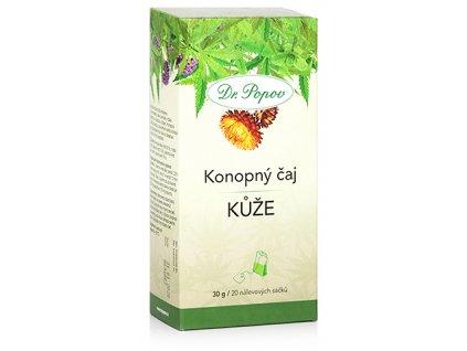 Konopný bylinný čaj KŮŽE - 30g (20 sáčků)