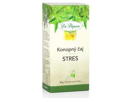 Konopný bylinný čaj STRES - 30g (20 sáčků)