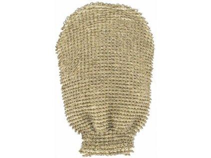 Masážní rukavice - bio len - hrubá