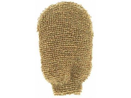 Masážní rukavice - indický len - velmi hrubá